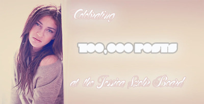 fanforumcom:  Our Jessica Szohr board has reached an amazing 100,000 posts! Come and celebrate with them here.
