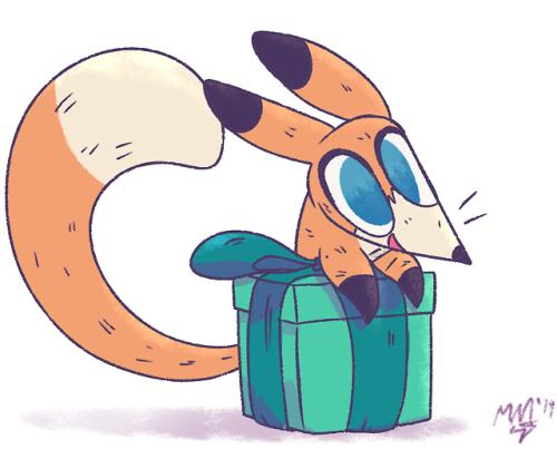 shibaroll:  Foxtrot Gift!Surprise a wild Foxtrot!Posted using PostyBirb