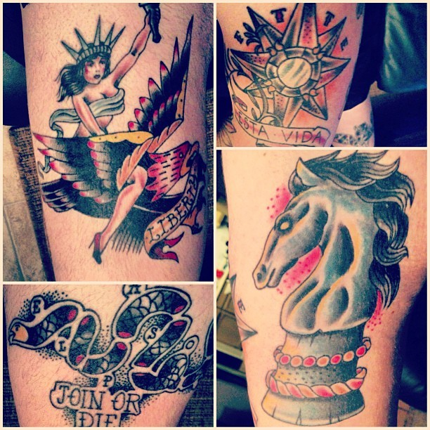 themaynestouch:  Eric Ward @ Sun City Tattoo #tattoo