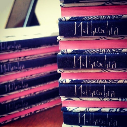 #Melburbia second edition complete with hot pink gilded edges. #graphicnovel #sexybook