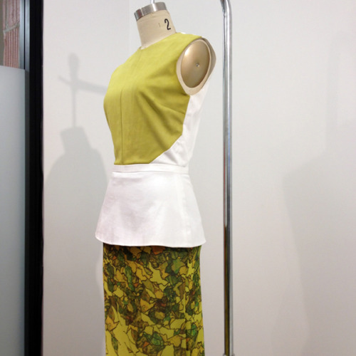 Daniel Vosovic spring looks on display at the CFDA incubator. Photograph by Julia Rubin.