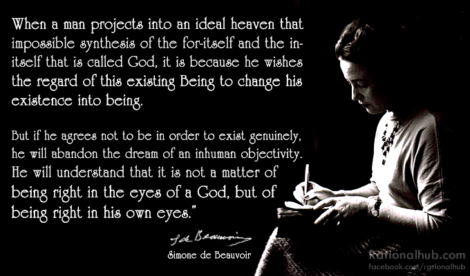 Simone de Beauvoir on morality.. by ~rationalhub