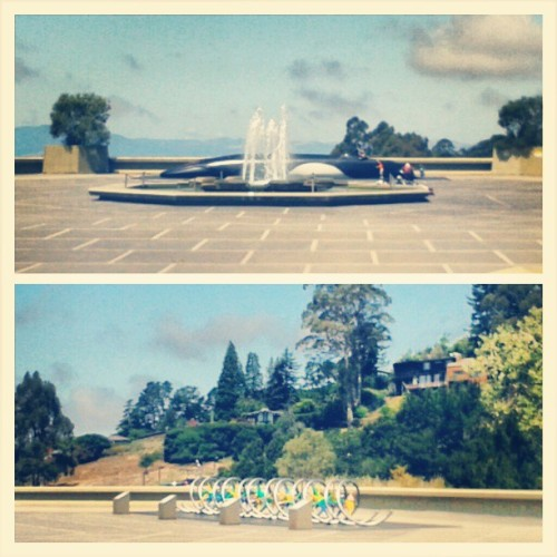 Nerdy sites on the #UCBerkeley #campus, a #DNAHelix and giant #whale. #california