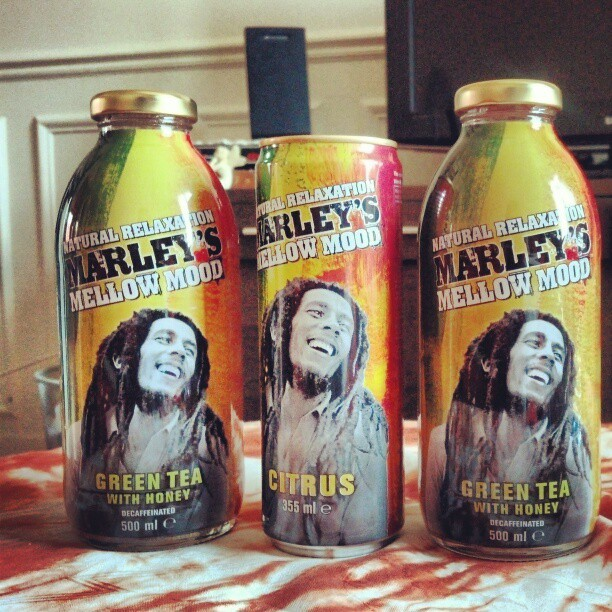 I've just found the best drink ever : natural relaxation marley's mellow mood #greentea #botanical