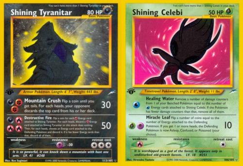 dragonitedelight:  Shining Cards in thePokémon TCG ~★/☆