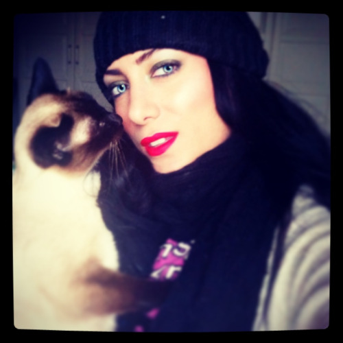 another instagram picture with my old lady Sasha the cat :)