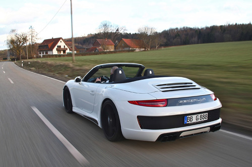The new Gemballa GT carbon fiber aero package for the 991 Porsche 911 Cabriolet. Read about the upgrade at MotoringExposure.