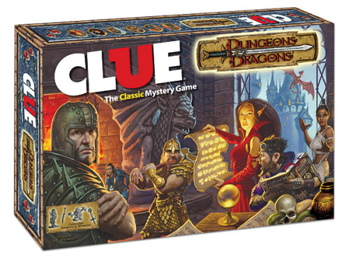 laughingsquid:  Dungeons & Dragons Clue, Classic Clue With Dungeons & Dragons-Themed Game Pieces and Game Board