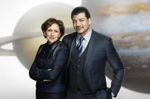 project-argus:  Ann Druyan and Neil deGrasse Tyson… IN SPAAAACE! (But, really, does this mean she'll be a bigger part of the show this time?)