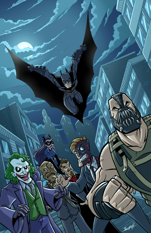 "dcu:  ""The Dark Knight Trilogy Villains"" by Natelovett"