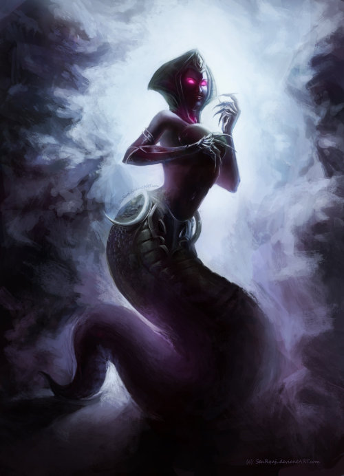 feedercomics:  Cassiopeia, the Serpent's Embrace by *SenRyuji