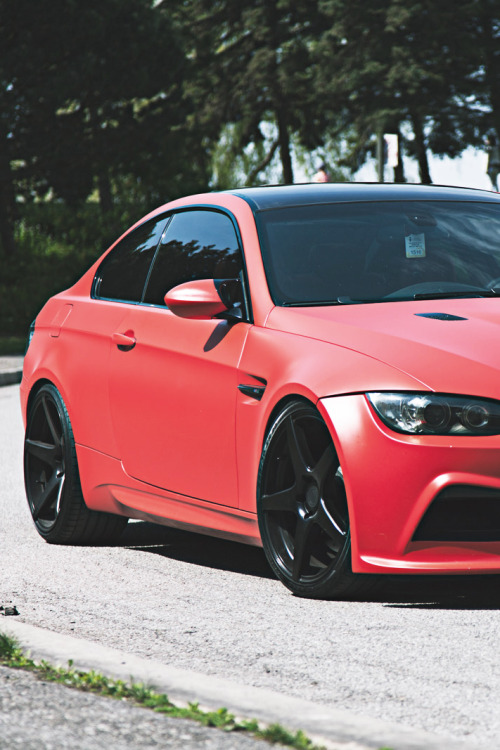 themanliness:  Matte Red BMW M3 | Source | More