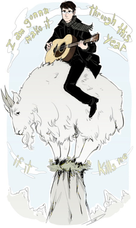 reapersun:  ~two mountain goats~