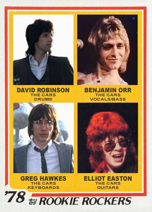 The Cars 1978 Topps Rock and Roll Hall of Fame