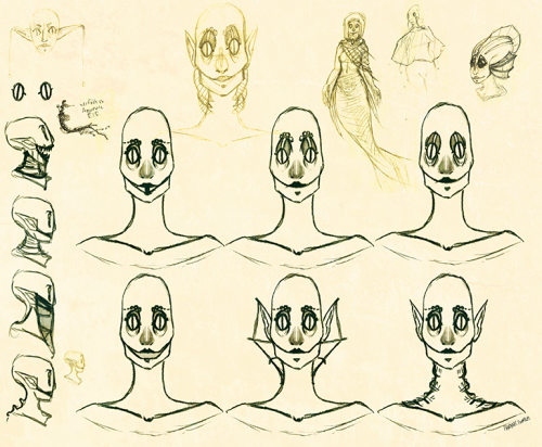 Character Design in process..Deep Sea Dweller,she will eat you.