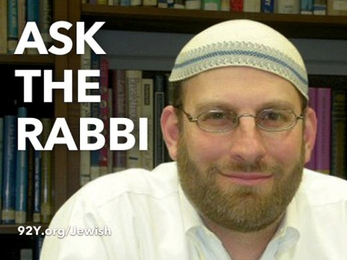 The Rabbi Is In. Have a question about life, religion, money, being twentysomething, or anything else?  Please feel free to ask.