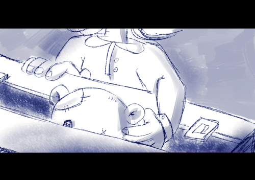 Spent the morning helping out my friend storyboarding out her...