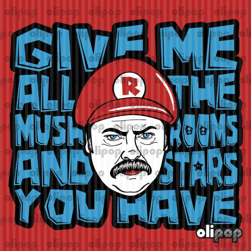 gamefreaksnz:   Give me all the Mushrooms and Stars you have by Olipop US $27.74 Artist: Facebook | Redbubble