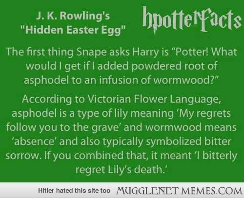 Oh JK Rowling you clever clever woman!