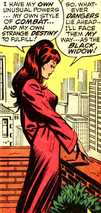superdames: Whatever dangers lie ahead, the Black Widow will...
