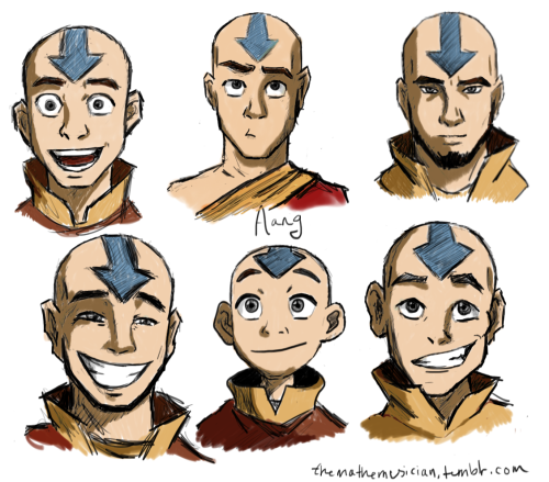 themathemusician:  Aang, at various ages.