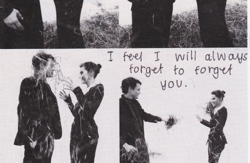"posttsecret:  ""I feel I will always forget to forget you."""