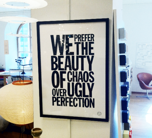 Accepting who you are is a better quality then striving for perfection.