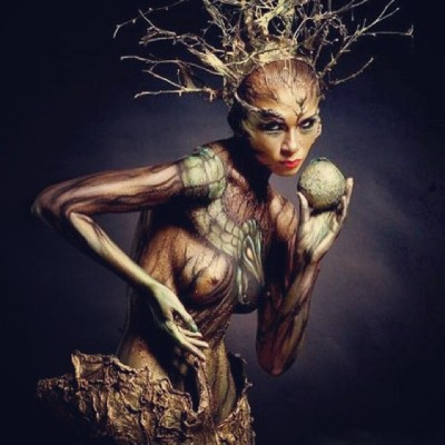 #saturday #artappreciation #bodypaint #bodysculpture #funlife #earth #goddess #creatures @energeticmatrix