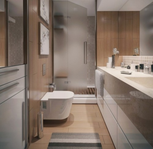 homedesigning:  Contemporary Apartment Bathroom