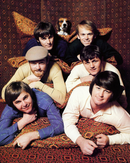 andawhirlaway:  theswinginsixties:  The Beach Boys  i love the tent pics so much. especially with banana. <3