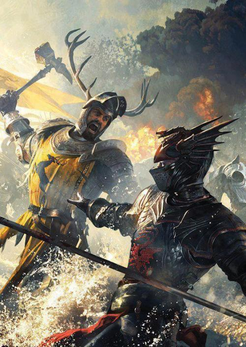 Robert Baratheon vs Rhaegar Targaryen. (artist unknown)