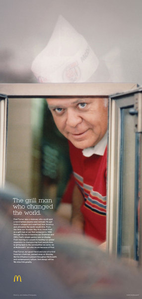McDonald's Tribute Ad to late Fred Turner by DDB Chicago Fred Turner was McDonald's CEO from 1974 to 1987