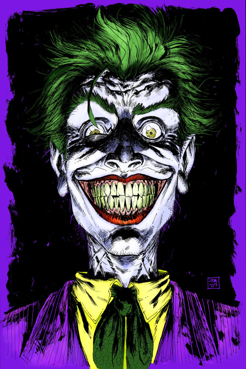 So I did a recolor on Tony Moore's Joker. I think this time is a lot better than the last time I did it.   Tony Moore