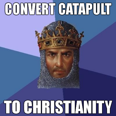You ever the play Age of Empires games? Some things just bothered me…