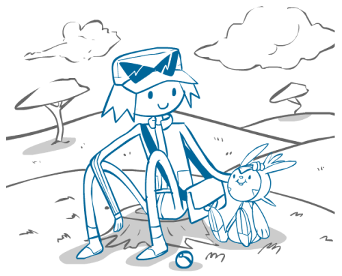 Something for my to-do bin. Pokemon XY/Adventure time fanart.