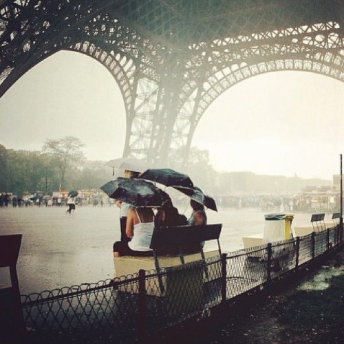 bonparisien:  alexfeehily:  Rain rain go away / come again another day #paris #eiffel #myumbrellaismylifesaver #thethingsidoforwork #wetwetwet (at Tour Eiffel)  Pretty