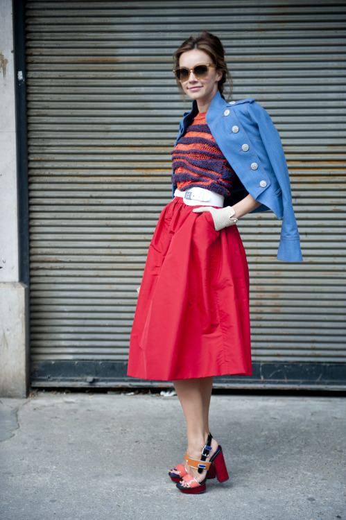 Red hot hit! A skirt that is a guaranteed of head turner.