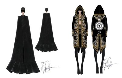 Rihanna's custom made Givenchy costumesfor the 'Diamonds Tour'. Unfortunately, Ri-Ri had to cancel her concert on Monday due to laryngitis.Read more here…