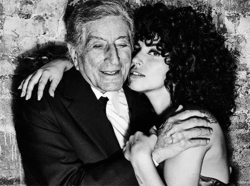 ladyxgaga:   Were you nervous about alienating some of your younger fans with this release? No, I wasn't. Little Monsters are very open-minded. They have a thirst for new things. I started singing jazz when I was 13 and I discovered it before then. My mom used to play Billie Holiday on Sundays, I found Ella Fitzgerald—who's my absolute favorite jazz singer—and my father listened to Frank Sinatra and Tony Bennett. So part of me knew in my heart that many of my fans would fall in love with jazz the same way I did, because we're very similar.I'm also not afraid of anything. At the end of the day, it's much more important to me to put out this great music into the world. Where do you think pop music is headed right now? It's really hard to say where it will go, but I will say that I'm loving watching people gravitate toward the likes of Sam Smith and people who have these rich, beautiful organic voices. I'm excited that this album is coming out now because I think people are ready for an organic type of music. I feel that culture is excited to hear something more natural. Where are you right now with your clothing? It seems like you've been channeling Norma Desmond fromSunset Boulevardand Cher with your hair. Did you have a particular muse in mind? I'm always inspired by the greats. I look back at Ginger Rogers, and even though I might not be dressing like her, she's been a big inspiration for me—as well as Ella Fitzgerald. Ella didn't care how she looked. She wasn't worried about anyone thinking she's beautiful. She was worried about giving the most honest, authentic performance that she could. When I was choosing what kind of hair I wanted to wear while singing this album, I remembered how I wore my hair when I was 13 when I sang standards for the first time. I'm an Italian girl, so when I get out of the shower, my hair curls up and I get out my diffuser and put spray in it. Because I'm returning to my roots with jazz, I thought I'd also return to my hair roots. I fee