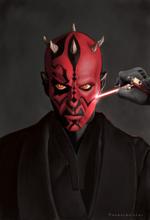 nathansummers:  pixelwolfie:  Maul by ~markdraws Darth Maul at the tattoo shop  Only hours away now