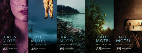 Teaser posters for Carlton Cuse's Bates Motel. Click-through to enlarge.