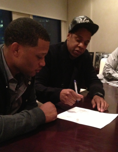 Cano Signing his Sports Representation Contract with Jay-Z. Well that was Quick!