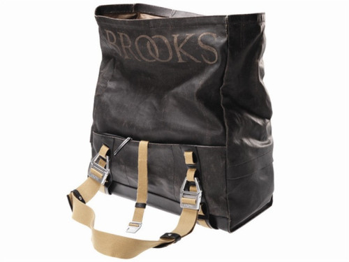 BROOKS HAMPSTEAD HOLDALL BAGTrying to decide between a duffel-style bag or a backpack? With theBrooks Hampstead Holdall Bag, you don&#8217t have to choose. Thanks to multi-purpose straps, the bag can be carried over the shoulder, attached to a bike&#8217s cargo rack, or worn as a backpack. A roomy main compartment and roll-top design help to accommodate larger loads, and thanks to the water-resistant cotton lining and leather-exterior, it&#8217s ready for the elements, too. Hand constructed in Tuscany.  BUY NOW/$400The image above is part of a Photoset.  You can use the small triangles on either side of the displayed image to scroll to the other images in the Photoset.(via Brooks Hampstead Holdall Bag | Uncrate)