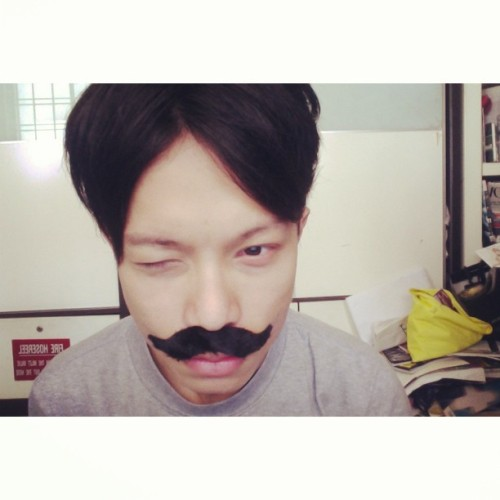#whitagram my moustache #selfportrait #photobooth #asianboy #retro