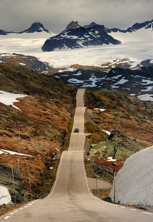 illusionwanderer:  The Road by Pawel Kucharski  Sognefjellet, Norway