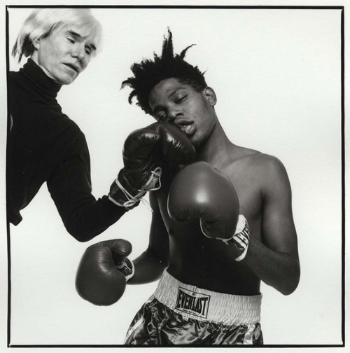vivipiuomeno:  Basquiat and Warhol by Michael Halsband ph.