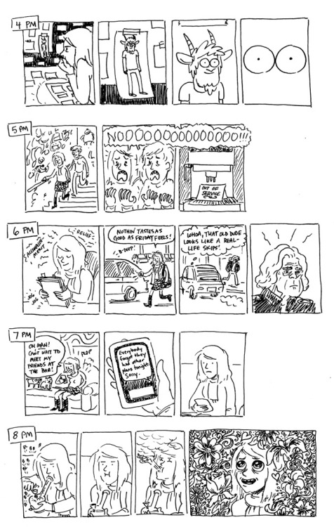 Hourly Comic Day, part 3 of 4. Click to enlarge. Part 4 here.