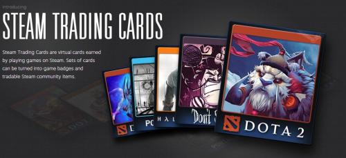 Steam Trading Cards? It's actually a bit more than that, sure there are cards you collect from playing select Steam games, but you can also craft these virtual pieces of paper into Steam badges. Also, there is profile levels, badge XP, unlockable profile backgrounds and more. Read about it all here or join the beta here.