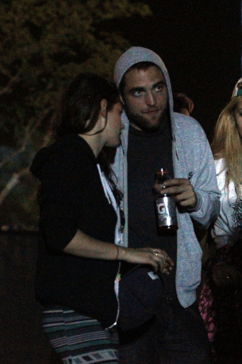 Kristen and Rob at Coachella on April 12, 2013