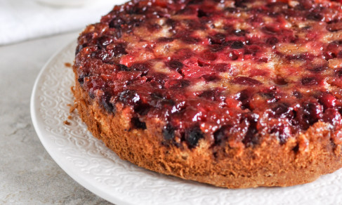 bakeddd:  holiday upside-down cranberry cake click here for recipe